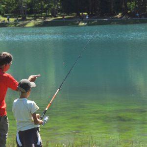 Pêche au lac aux dames