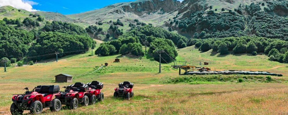 Landscape,Of,Mountain,With,Quad,Bike